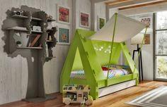 Ausziehbares Kinderbett mit Zeltdach