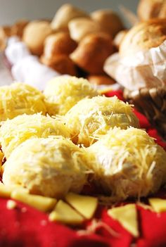 Rich rolls flavored with cheese and butter can be snacks for children, gourmet treats, or holiday gifts.