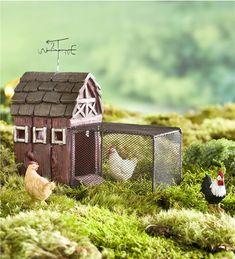 Main image for Miniature Fairy Garden Chicken Coop with Run