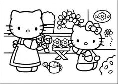 Free Printable Hello Kitty Coloring Pages Picture 19 550x392 Picture