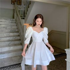 Discover fashion and beauty online with YesStyle! Shop for A-line Dresses - FREE Worldwide Shipping available! Women's A Line Dresses, Casual Dresses, Short Dresses, Fashion Dresses, Pretty Dresses, Pretty Outfits, Vetements Clothing, Frack, Short Cocktail Dress