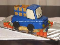 Homemade Farm Truck Birthday Cake: For my son's second birthday we decided to do a truck theme, since trucks are his absolute favorite thing in the world. I loved the idea of the farm/pick-up
