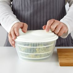 IKEA - TOKIG, Salad spinner, white, The bowl can also be used for serving. Wash this product before using it for the first time. Ikea Inspiration, Salad Spinner, Kitchen Items, First Time, Canning, Products, Passion, Cooking, Sweden