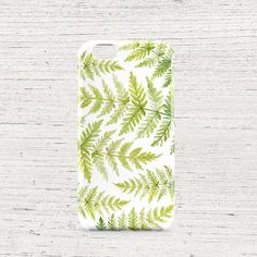 Fern phone case/ fern print/ fern phone case/ cell phone case/ iPhone6s/ iPhone 5/5S, Samsung Galaxy S6 Edge/ green