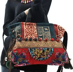 Hand Made Embroidery Great Floral Pattern Tote Bag by zeniche, $59.00