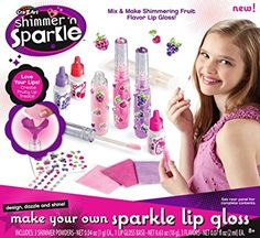 Shop Cra-Z-Art Shimmer 'n Sparkle Lip Gloss Kit. Crafts For Girls, Toys For Girls, Diy For Kids, Makeup Kit For Kids, Kids Makeup, Lip Gloss Maker, Sparkle Lips, Hello Kitty Coloring, Flavored Lip Gloss