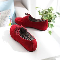 Flat Shoes----Red