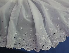 """70-100033,+29""""+Swiss+Embroidered+Flounce,+White+"""
