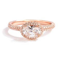 Sylvie Bridal Collection Oval-Shaped Engagement Ring in Rose Gold | Greenwich Jewelers
