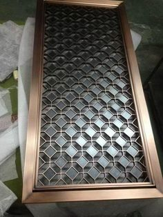 Colored metal screens