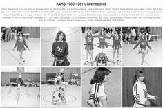 Here come the cheerleaders in 1980-81.  You girls are so cute:-)