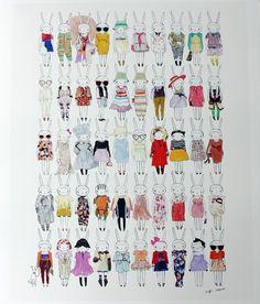 Fifi Lapin fashion illustrations
