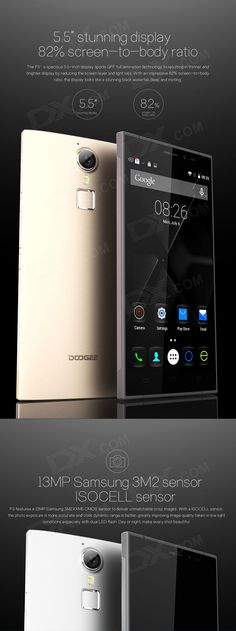 "DOOGEE F5 Octa-Core Android 5.1 4G Phone w/ 5.5"" FHD, OGS, 16GB ROM, 16.0MP, Fingerprint Sensor - Free Shipping - DealExtreme"