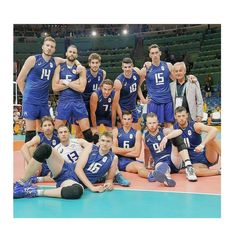 Italy men's volleyball team to the Rio 2016 Olympics - Silver medalists