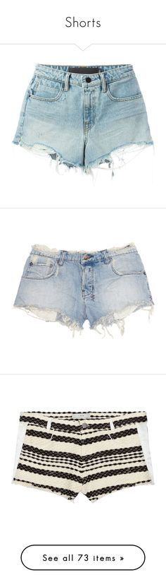 """Shorts"" by brook-s18 ❤ liked on Polyvore featuring shorts, bottoms, pants, short, blue, zipper shorts, jean shorts, blue jean short shorts, short jean shorts and bleached denim shorts"