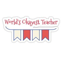 World's Okayest Teacher / World's Okayest Teacher – Teacher Shirt / Pop culture, rustic industrial art, modern contemporary and minimalist typography designs by VomHaus include cute, cool, awesome, funny, ugly, geek / geeky, nerd, hipster, adult jokes / humor, and vintage. / VomHaus trendy custom printed t shirts, bags, throw pillows, coffee travel mugs, tank clothing, a-line dresses, zip up / pullover hoodies, etc. are great...