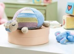 Gillian the adorable tortoise - free knitting pattern download from Let's Knit!