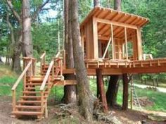 how to make a simple treehouse. hope grandma can make this! my