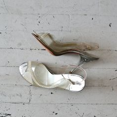 First Dance heels / vintage 50s shoes / wedding by DearGolden, $74.00