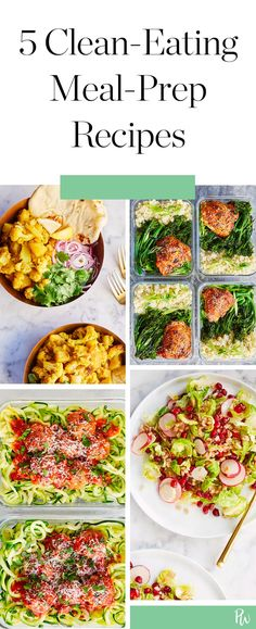 5 Clean-Eating Meal-Prep Recipes You Can Make Once and Eat All Week #purewow #food #lunch #dinner #recipe #cooking