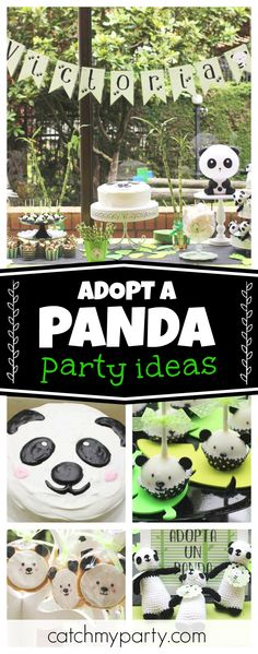 Take a look at this wonderful Adopt a Panda Party! The panda cake pops are adorable!! See more party ideas and share yours at CatchMyParty.com