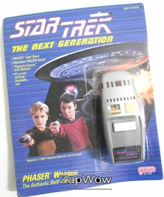 Phaser Weapon Star Trek The Next Generation MOC Galoob Vintage for sale online Star Trek Toys, Star Wars, Star Trek Phaser, Star Trek Merchandise, Classic Sci Fi, Sci Fi Weapons, Starship Enterprise, The Final Frontier, Star Trek Ships