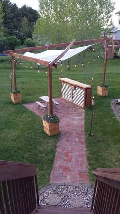 , 35 erstaunliche Hinterhof Terrasse umgestalten Ideen 29 35 amazing backyard patio remodel ideas While ancient in strategy, the particular pergola may be experiencing. Pergola Patio, Diy Patio, Backyard Patio, Pergola Kits, Patio Ideas, Backyard Ideas, Pergola Ideas, Backyard Designs, Patio Bar
