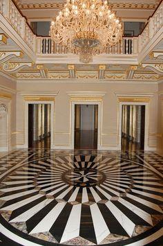 Luxury Marble Floor inside Andrey Goncharenko palatial ...