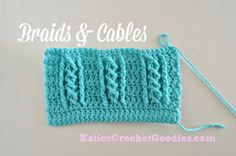 Braided Cable Crochet Stitch.  Super easy stitch would make a pretty scarf.  Video to show how to do, along with written pattern.