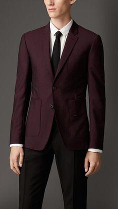 Burberry London Slim Fit Wool Mohair Blazer