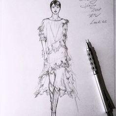 Unfinished #handdrawn #raw #pencil #sketch #Givenchy #Spring #2018 #RTW #lace #trim #gown #sketching #illustration #иллюстрация #art #worldofartists #luxury #dress #платье #рисунок #miniature #portrait #event #nataliazorinliu #asian #model #followme #fashionista #wedding #instafashion