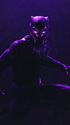 Black panther, dark, glowing suit, art, 720x1280 wallpaper