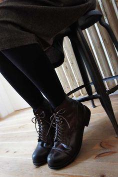 black lace ups