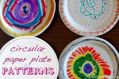 Got paper plates? This project will entertain preschoolers while building creative thinking skills. Bring some markers along on your next picnic for some artsy fun. Paper Plate Art, Paper Plate Crafts, Paper Plates, Cool Art Projects, Arts And Crafts Projects, Projects For Kids, Art Activities For Kids, Fun Crafts For Kids, Art For Kids