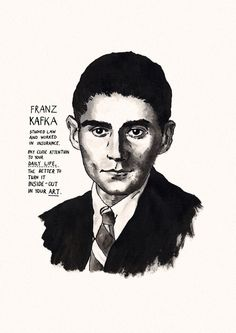 Franz Kafka poster print Great Writers by StandardDesigns on Etsy