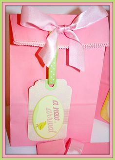 Baby Shower It's a Girl Favor Bags by BoopteyLu on Etsy, $30.50