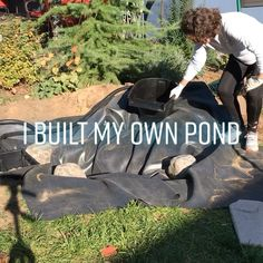 The first easy to install - click and go - DIY Pond Kit. How to install a DIY pond kit with zero plumbing, zero sealant, zero foam. Ecosystem pond for your yard without the headaches. Small Backyard Landscaping, Ponds Backyard, Backyard Fences, Landscaping With Rocks, Landscaping Ideas, Yard Fencing, Modern Backyard, Pond Kits, Gardens