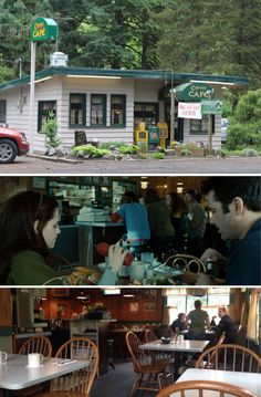 """'Twilight's The Carver Café is the chilled out, low-key diner/restaurant in Forks, basically, it's """"The Lodge"""" that we all know and love from the books. In real-life the cafe is in Damascus, Oregon."""