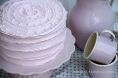 Recipe for Vintage Cake.  Follow me on Instagram @passionforbaking  #vintage #cake #baking #pink