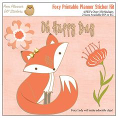 Foxy Printable Planner Kit January stickers by DigiScrapDelights