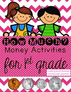 Money Activities {a first grade unit} Classroom Money, Math Classroom, Teaching Money, Money Activities, Primary Maths, Picture Cards, Pennies, First Grade, Counting