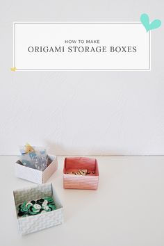 Origami Storage Boxes by Caylee for Gossamer Blue