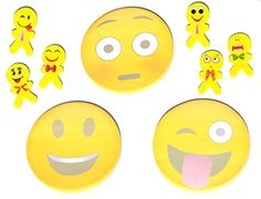 This set of emoji notepads and erasers make going back to school lots of fun. They make a great teacher's gift or just something fun for a college dorm room. 3 Fun Emoji Sticky Notepads and 6 Silly Emoji Erasers Set will add fun to any desk Each pad comes with the Emoji pictured: Tongue …