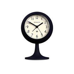 clocks:Dome Alarm Clock in Silicone Petrol Blue with White Face design by Newgate Wall Desk, Desk Clock, Constantino, Retro Clock, Burke Decor, Face Design, Color Of The Year, Modern Wall, Home Accessories