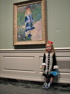 Blog of a mom who was inspired by art in the National Gallery for Halloween costumes (um, guess who wants to sew A Girl with a Watering Can dress for Ellie (hence why I googled this idea??)