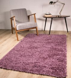 Ophiuchi Light Purple Rug 17 Stories Rug Size: Rectangle 110 x Black And Grey Rugs, Dark Grey Rug, Brown Rug, Yellow Rug, White Rug, Shag Pile Rugs, Shaggy Rugs, Ontario, Duck Egg Blue Rugs