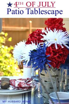 4th of July Patio Tablescape For Festive Celebrating |