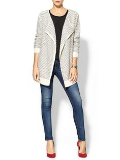 $69 Sabine Textured Boyfriend Cardigan | Piperlime