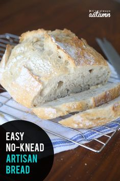 This artisan bread recipe is crazy easy to make! Only four ingredients and no kneading required. Perfect homemade bread for beginners! Easiest Bread Recipe Ever, Easy Keto Bread Recipe, Best Keto Bread, Easy Bread Recipes, Healthy Recipes, Keto Recipes, Quick Bread, Healthy Snacks, Keto Friendly Bread