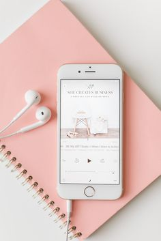 A roundup of 5 podcasts for wedding pros including The Goal Digger Podcast by Jenna Kutcher, She Creates Business, Creative Empire